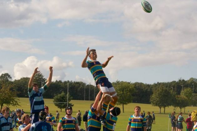 Rugby matches are played against local schools