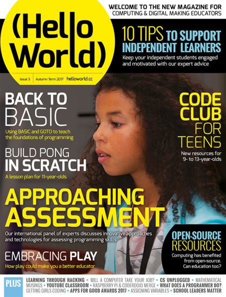 Hello World Issue 3 cover
