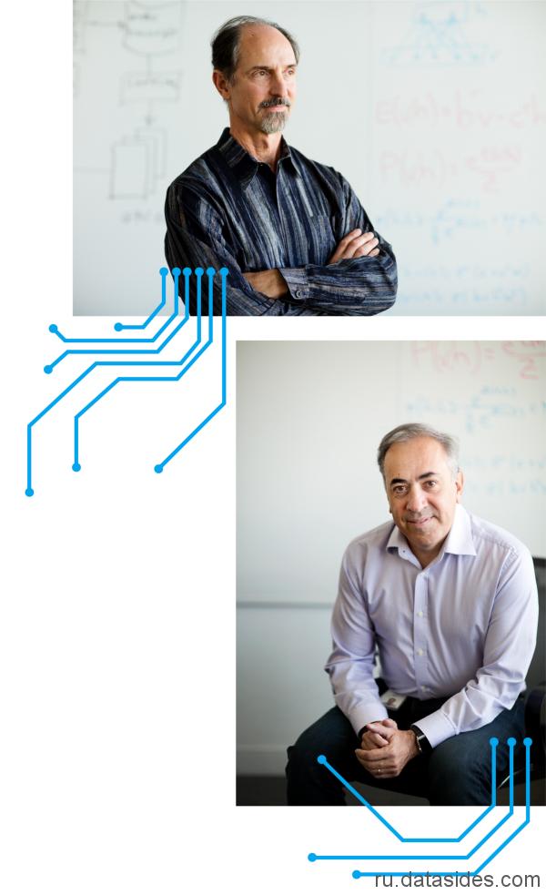 Начальник отдела программных разработок Siri Том Грубер (сверху) и Алекс Эйсеро