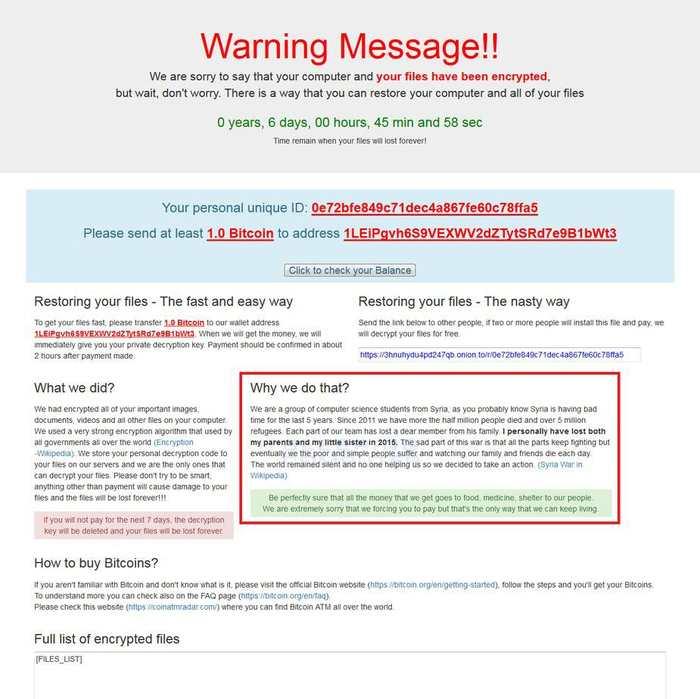 """Le Ransomware connu comme """"Popcorn Time"""" utilise une nouvelle approche pour se propager. Il donne la possibilité aux victimes d'infecter 2 de leurs amis en échange de la clé pour déchiffrer les fichiers. Notons que ce Ransomware n'a aucun lien avec l'application de streaming Popcorn Time."""