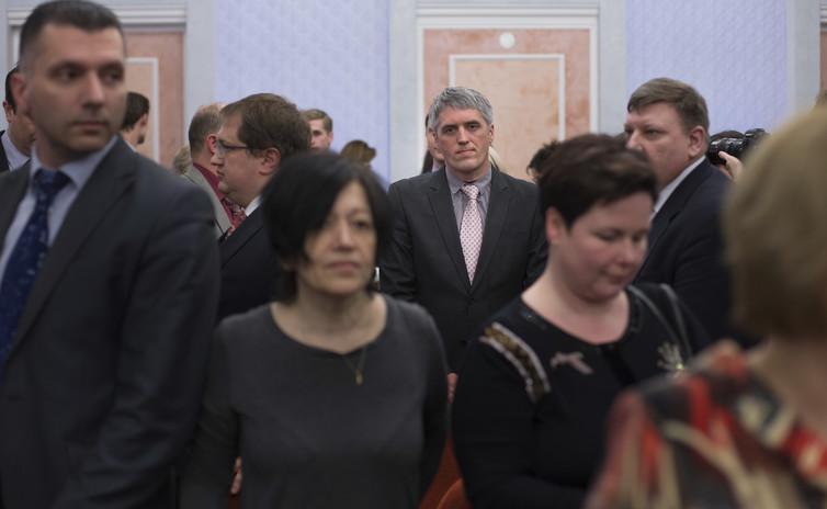 Les Témoins de Jéhovah qui assistent à l'audience de la Cour suprême qui interdit leur activité en Russie - Crédit : AP Photo/Ivan Sekretarev