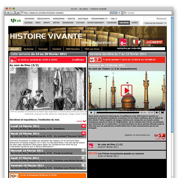 Réalisation site Internet histoire vivante