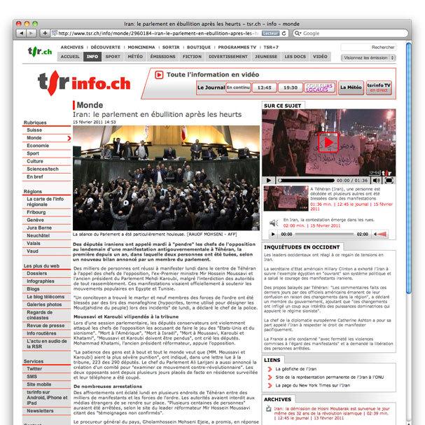 Réalisation site Internet info et sport