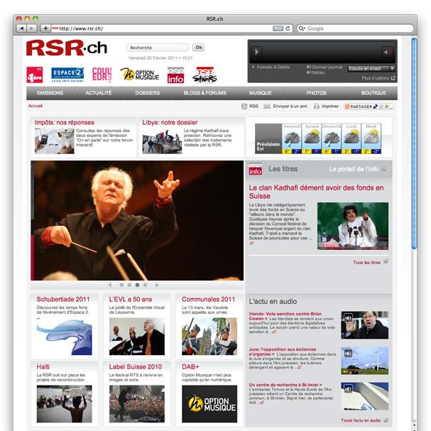 Réalisation site HP RSR