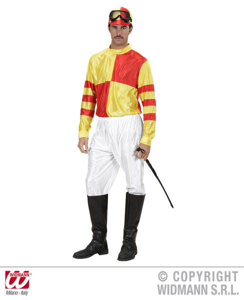 Mens Jockey Costume Outfit for British English Fancy Dress