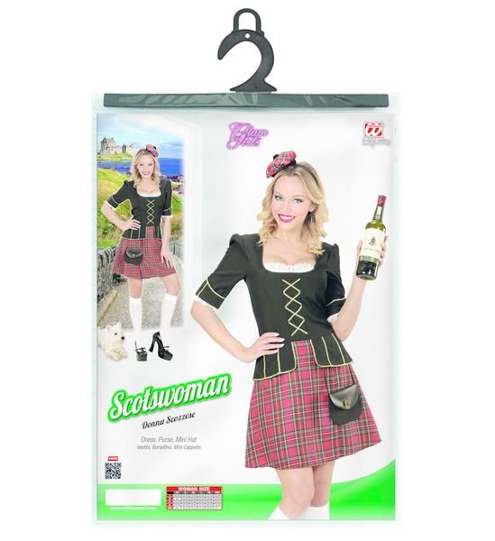 Ladies Scotswoman Dress Purse Mini Hat Highland Scotland Scottish Irish