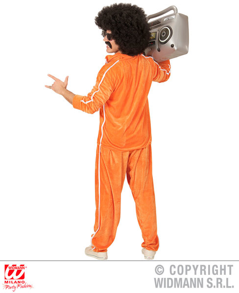 Mens 80s Chenille Tracksuit Costume for 90s Fancy Dress Cosplay Outfit