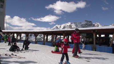 Post facebook dalle piste da sci di  Chiesa Valmalenco