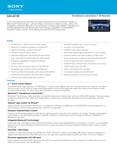 Sony XAV-601BT - Marketing Specifications