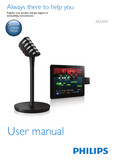 Philips wireless microphone and receiver AEA3000 - User manual