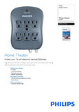 Philips Surge protector SPP2217WA Home theater 6 outlets - Leaflet