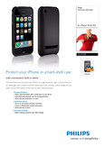 Philips Hard case with stand DLM1300 for iPhone 3G   3GS - Leaflet
