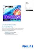 Philips DVD RW DN4S2J10C 4.7GB 120min 2.4x - Leaflet