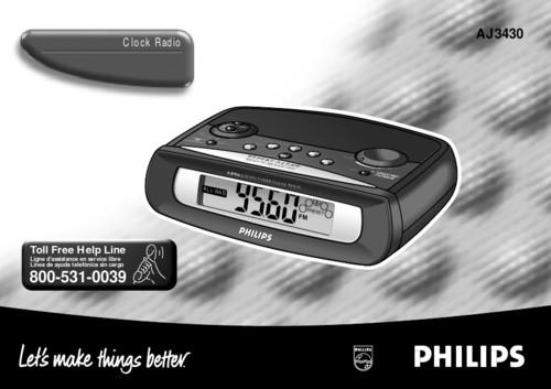 philips clock radio instructions
