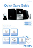 Philips Micro Hi Fi System MCM196D - Quick start guide