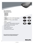 Philips 55 inches projection TV - User manual