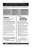 Philips 42 inches plasma flat HDTV Pixel Plus 3 HD - User manual