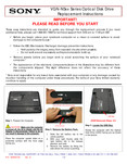 Sony VGN-NS270J/T - VGN-NSxx Series Optical Disk Drive Replacement Instructions