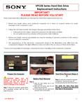 Sony VPCEB2TGX/BI - VPCEB Series Hard Disk Drive Replacement Instructions