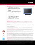 Sony KDL-26S3000LI - Marketing Specifications (Light Blue model)
