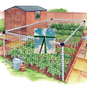 Vegetable Cage - Deluxe 6'x6'