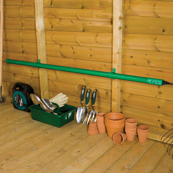 Greenhouse & Shed Tube Heater 1000mmD T Brown Garden Essentials