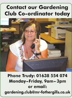 Contact Trudy our gardening club co-ordinator on 01638 554074