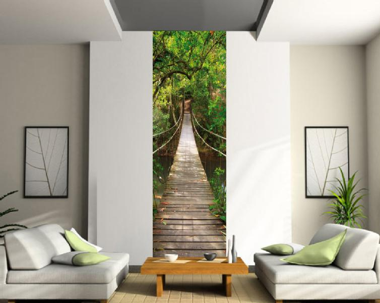 sticker trompe l 39 oeil passerelle 80x200cm r f 403 ebay. Black Bedroom Furniture Sets. Home Design Ideas