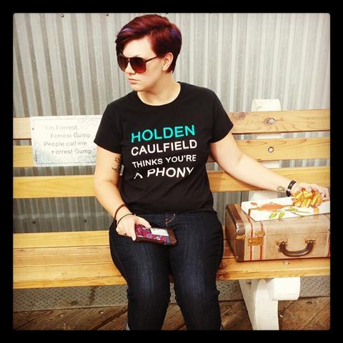 Holden Caulfield TShirt  DFTBA Records