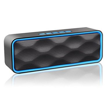 Wireless Bluetooth Speaker, ZOEE S1 Outdoor Stereo Speaker with HD Audio and Enhanced Bass, Built-In Dual Driver Speakerphone, Bluetooth 4.0, Handsfree Calling, FM Radio and TF Card Slot