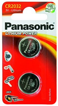 CR2032 Battery 2 pack Panasonic, Lithium Coin Cell