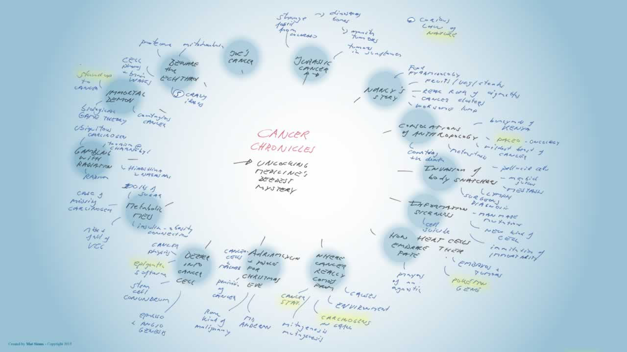Cancer chronicles mindmap