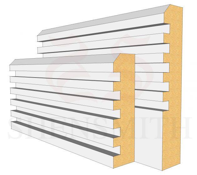 Ribbed MDF Skirting Board