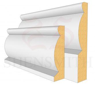 Domed Profile Skirting Board