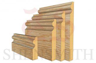 Oak veneered Torus Skirting Board Thumb