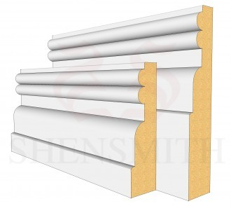 Reeded 2 Profile Skirting Board