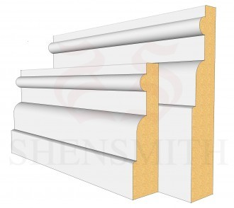 Reeded 1 Profile Skirting Board