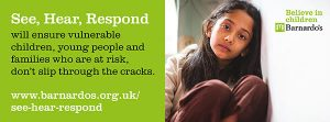 Barnardos See Hear Respond Graphic
