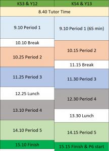 School Day 2020-21