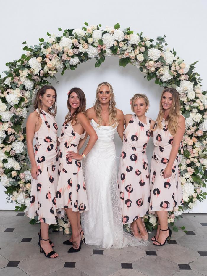 Sarah Lindsay with the brides