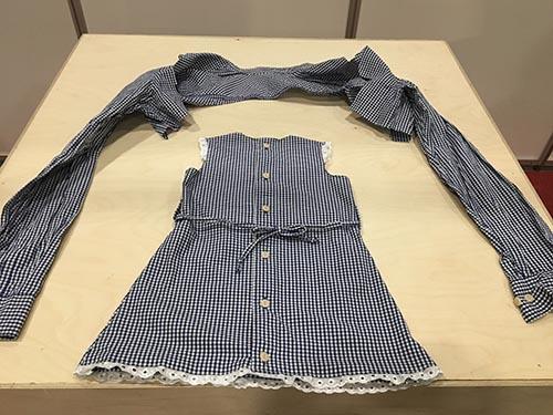 3. plassen i konkurransen Design By Me gikk til redesign av skjorte til babykjole.