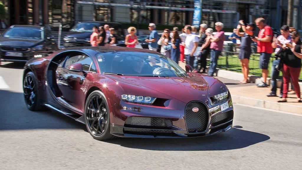 Bugatti Chiron på Oslo Motor Show.