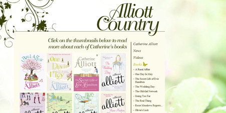 Catherine Alliott website, rebuilt with search engines in mind