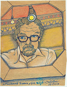 GRAYA103643 Alasdair Gray: Self Portrait, 2010