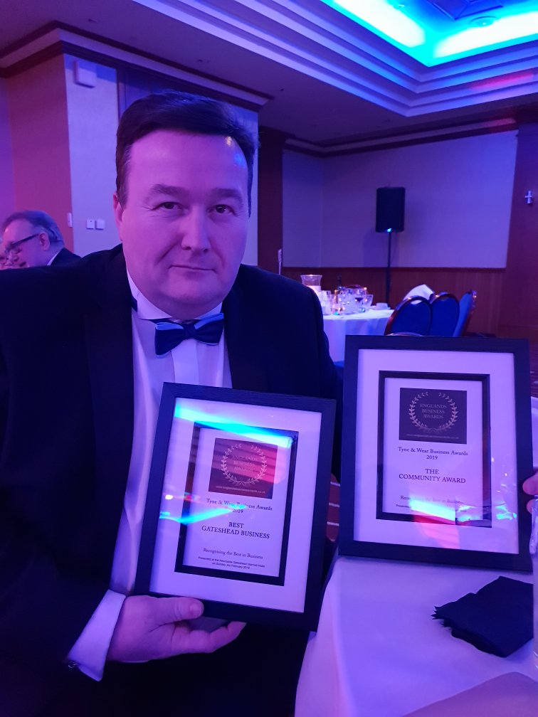 SOS, Charity, Andrew Skelton, Smart Office Systems, Tyne and Wear Business Awards