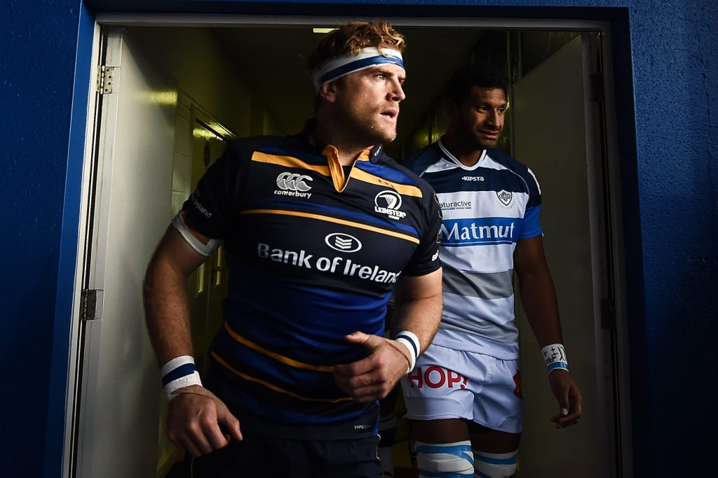 15 October 2016; Jamie Heaslip of Leinster makes his way to the pitch ahead of the European Rugby Champions Cup Pool 4 Round 1 match between Leinster and Castres at the RDS Arena in Dublin. Photo by Stephen McCarthy/Sportsfile