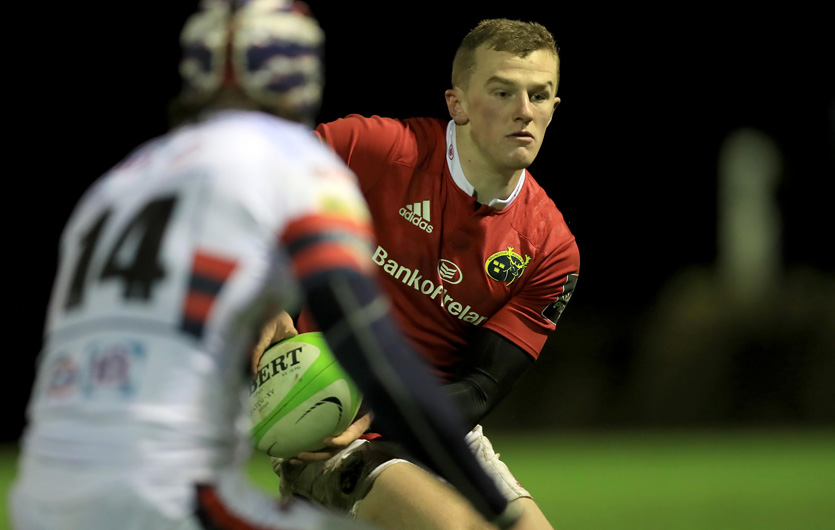 Munster A winger Stephen Fitzgerald in action earlier this season.