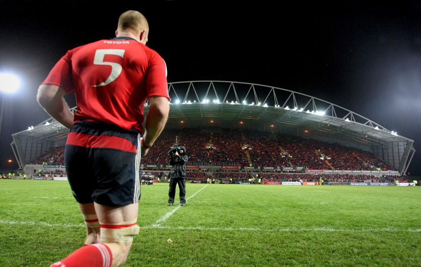 O'Connell taking to the field at Thomond Park.