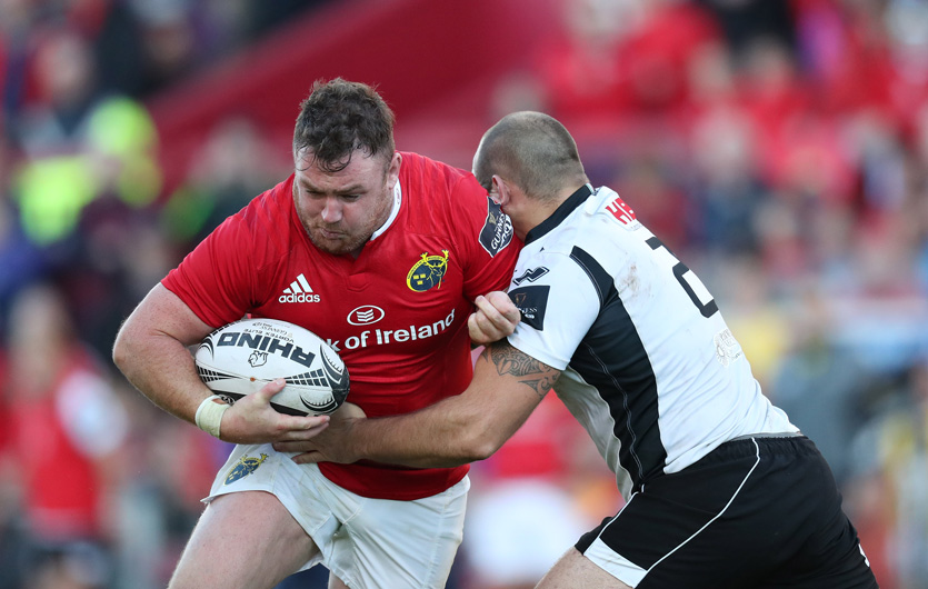 Dave Kilcoyne on the attack against Zebre at Thomond Park earlier this season.