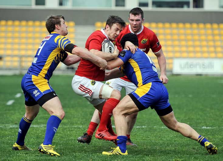 Darren Sweetnam on the attack.